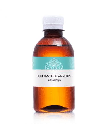 A napraforgóolaj kiváló hidratáló, segít megőrizni a bőr nedvesség tartalmát, útját állja a bőr kiszáradásának.Makacsan gyógyuló, száraz sebekre is ideális.