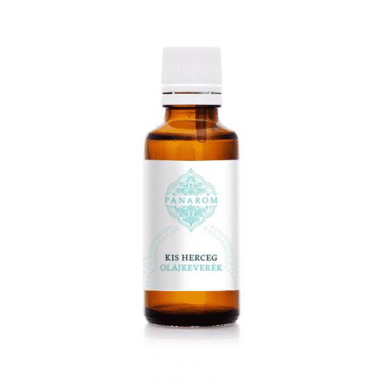 A kis herceg olaj tartalmazza teafa-, rózsafa- és kamilla növényi hatóanyagok lazító, és fertőtlenítő hatásúak, míg a tömjén elősegíti a fitymabőr ápolását.